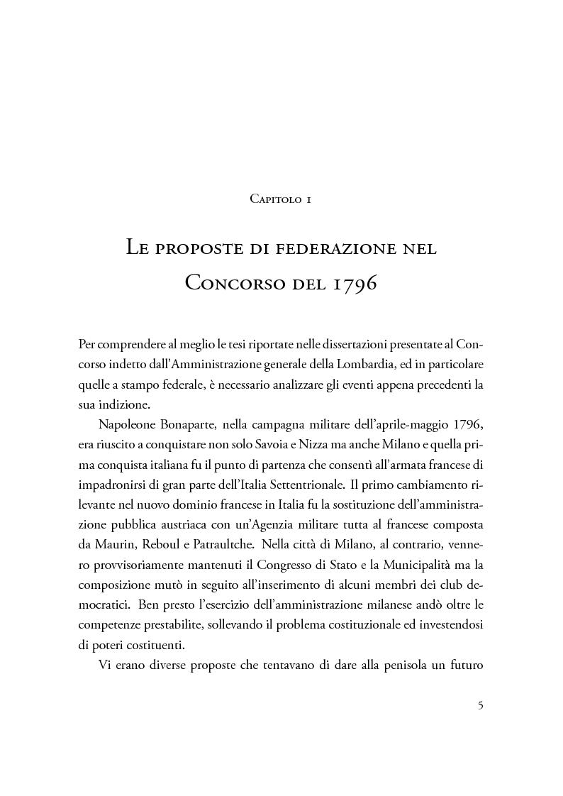 Anteprima della tesi: Dibattiti politici e progetti federali in Italia fra XVIII e XIX secolo, Pagina 5