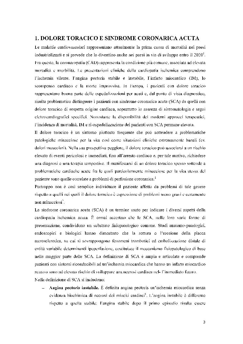 Assistenza infermieristica in DEA a paziente con sindrome coronarica acuta - Tesi di Laurea