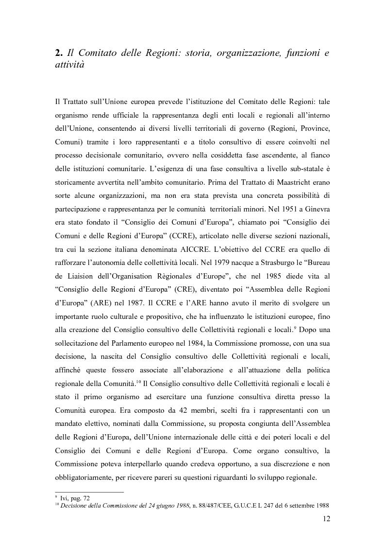 Estratto dalla tesi: I Fondi strutturali nel quadro delle politiche dell'Unione Europea: le programmazioni 2000-2006 e 2007-2013