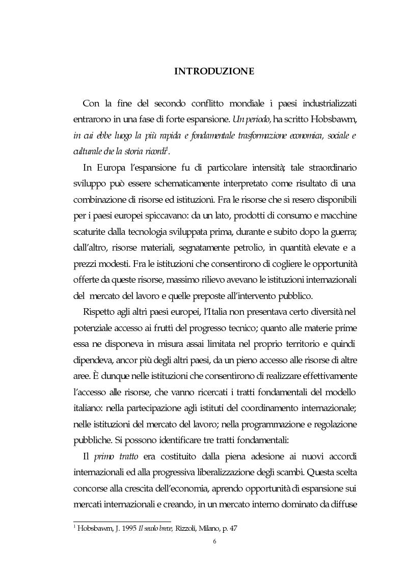 Anteprima della tesi: Il capitalismo italiano del secondo dopoguerra: persistenze e mutazioni, Pagina 1