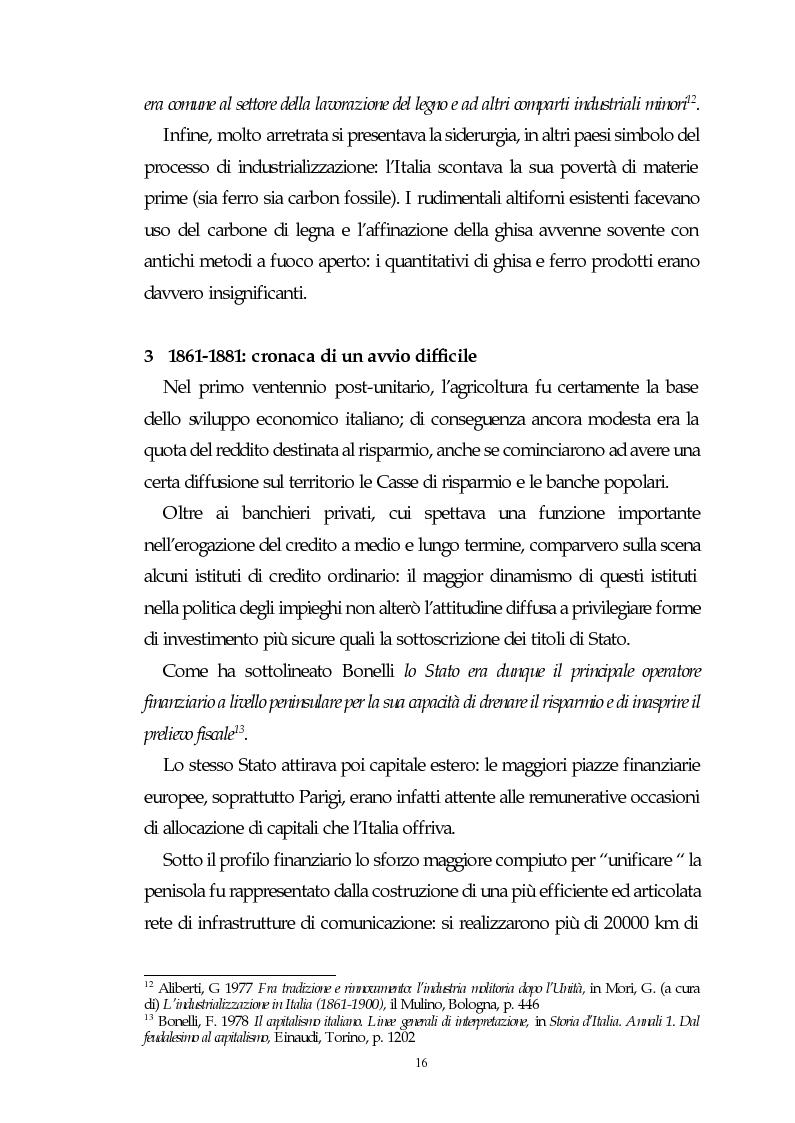 Anteprima della tesi: Il capitalismo italiano del secondo dopoguerra: persistenze e mutazioni, Pagina 11