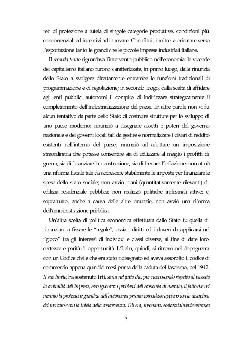 Anteprima della tesi: Il capitalismo italiano del secondo dopoguerra: persistenze e mutazioni, Pagina 2
