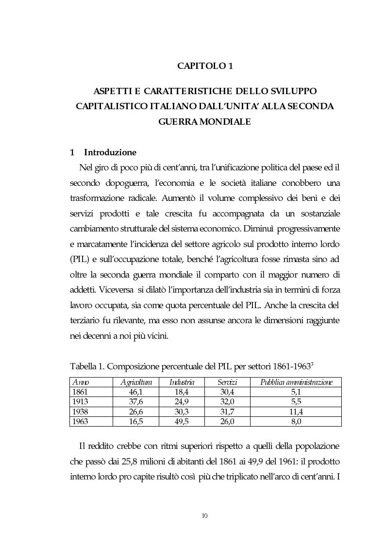 Anteprima della tesi: Il capitalismo italiano del secondo dopoguerra: persistenze e mutazioni, Pagina 5