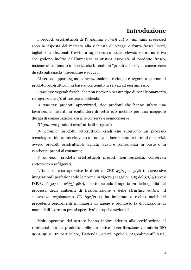 Anteprima della tesi: Produzione di ortaggi da foglia per la quarta gamma, Pagina 2