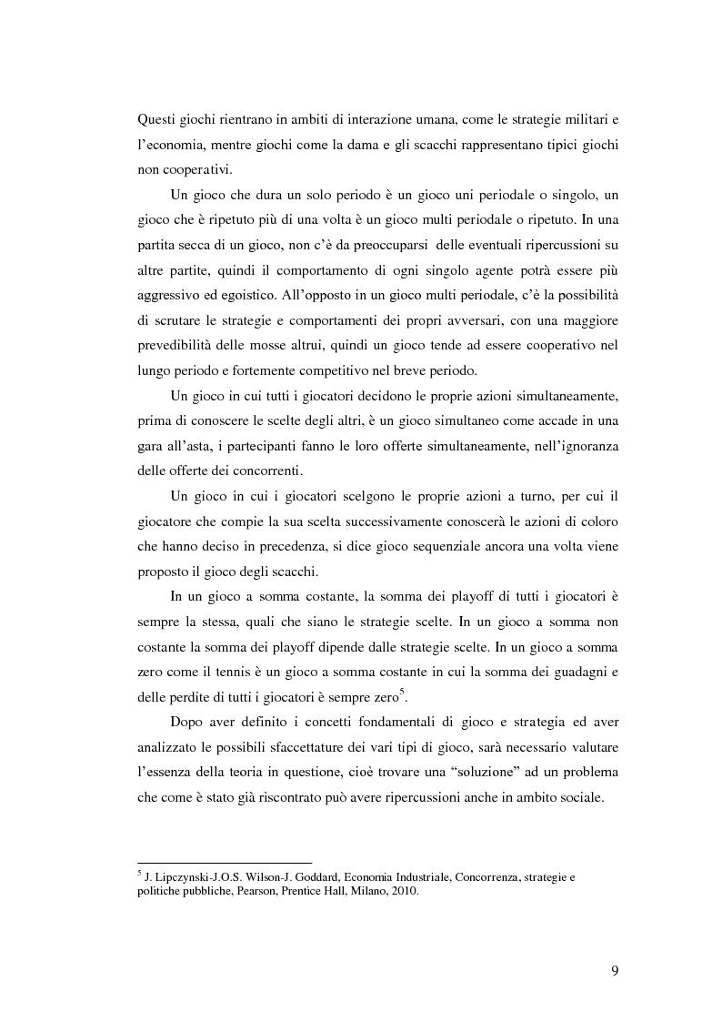 Estratto dalla tesi: Reciprocità e interazioni umane in teoria dei giochi