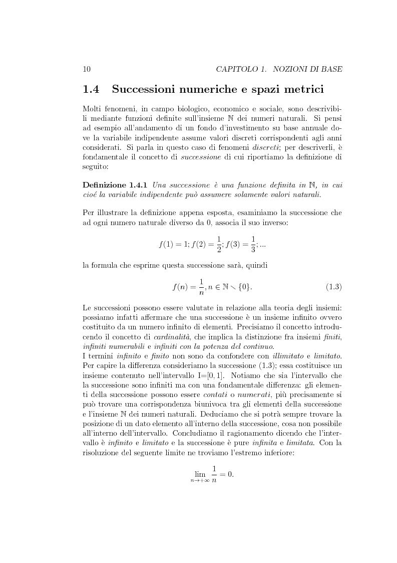 Estratto dalla tesi: Teoremi di Punto Fisso e Applicazioni