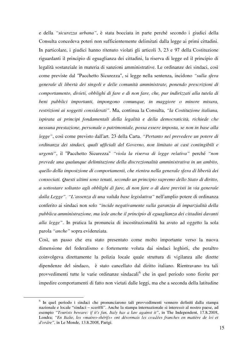 Estratto dalla tesi: Storia della polizia locale. Specificità del caso italiano