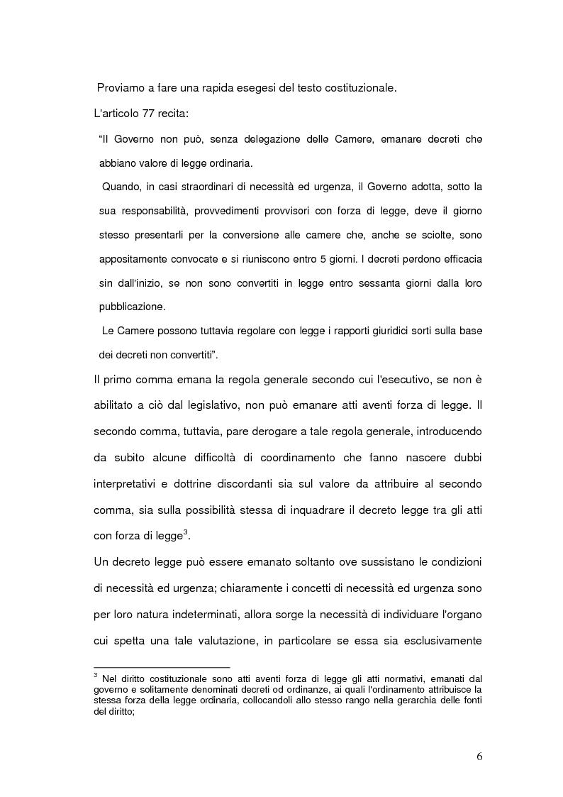 Anteprima della tesi: Decreti Legge: analisi delle principali sentenze della Corte Costituzionale, Pagina 4