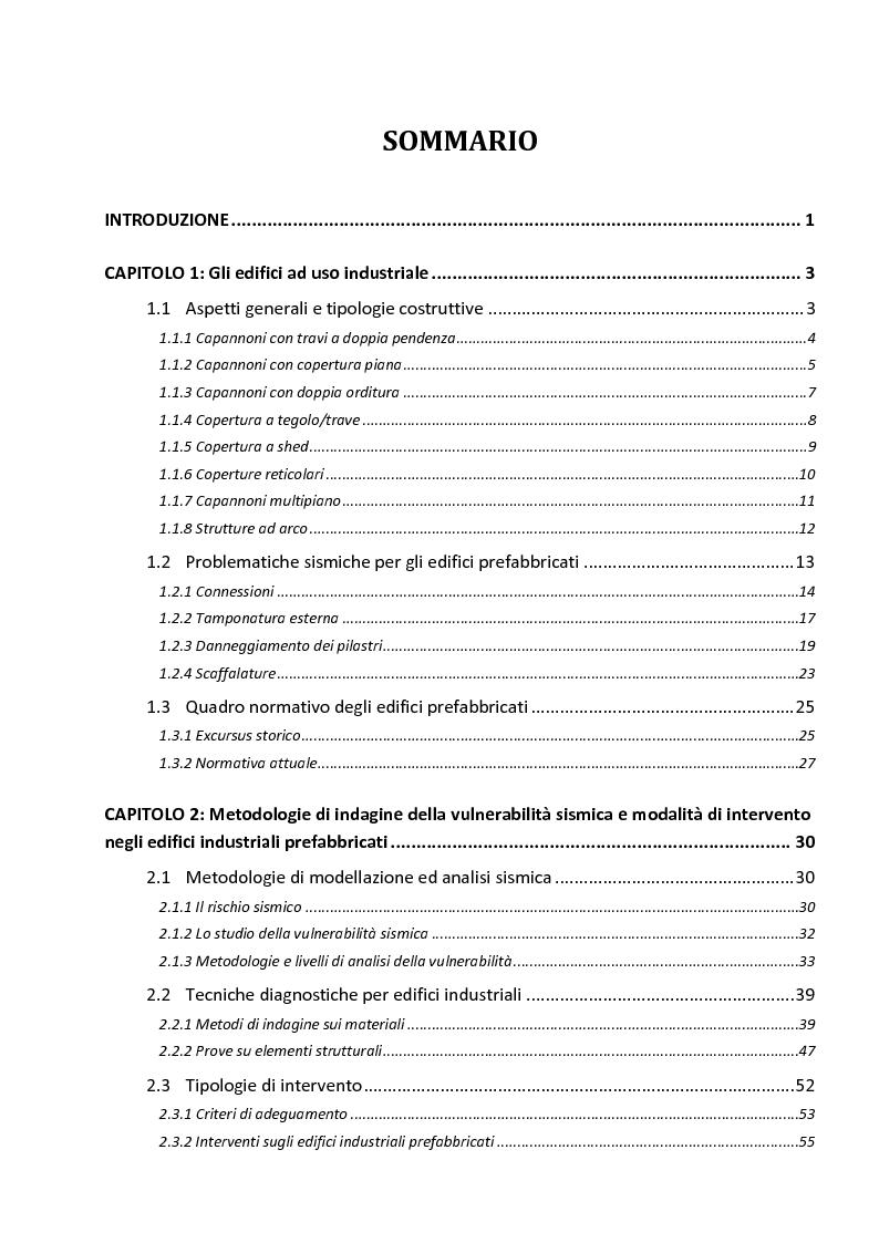 Indice della tesi: Analisi di un edificio industriale danneggiato da incendio: esame dello stato di degrado mediante ultrasuoni e valutazione della vulnerabilità sismica. Proposte di intervento di recupero, Pagina 1