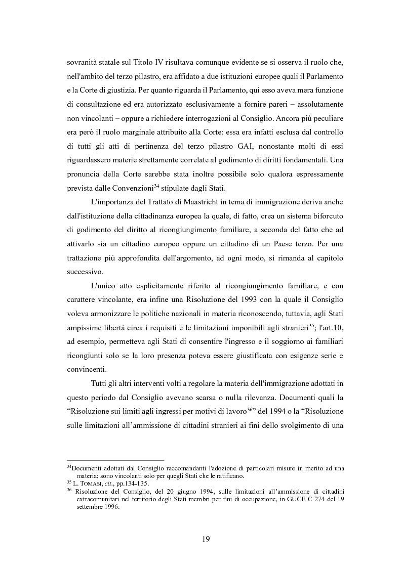 Estratto dalla tesi: Il ricongiungimento familiare: tutele dell'ordinamento e aspetti problematici
