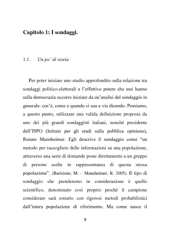 Anteprima della tesi: Il ruolo dei sondaggi politici nella democrazia: il caso delle elezioni politiche del 2013., Pagina 6