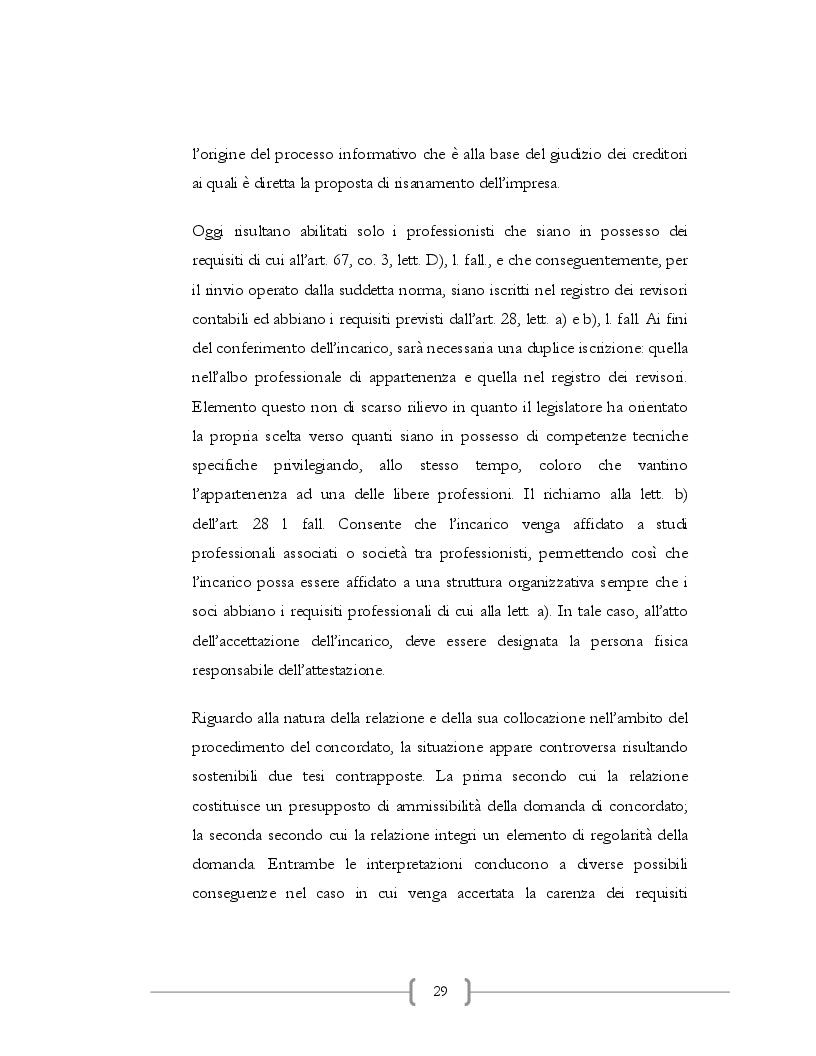 Estratto dalla tesi: Il concordato preventivo di risanamento
