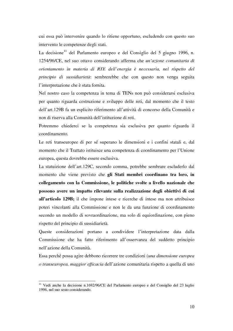 Anteprima della tesi: La funzione delle reti transeuropee nel quadro della costruzione europea, Pagina 10