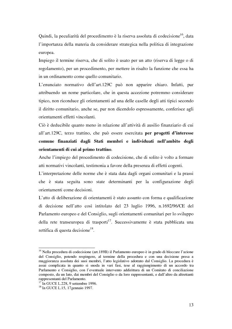 Anteprima della tesi: La funzione delle reti transeuropee nel quadro della costruzione europea, Pagina 13