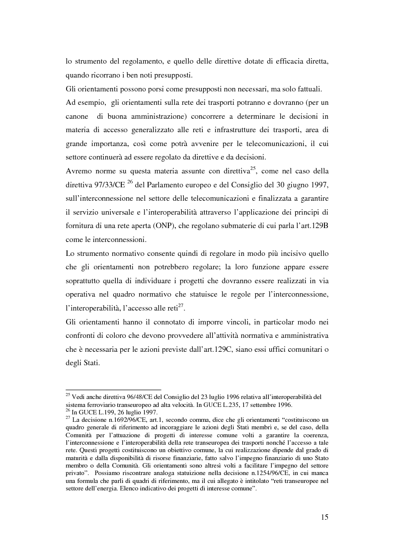 Anteprima della tesi: La funzione delle reti transeuropee nel quadro della costruzione europea, Pagina 15