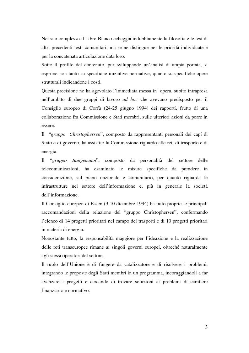 Anteprima della tesi: La funzione delle reti transeuropee nel quadro della costruzione europea, Pagina 3