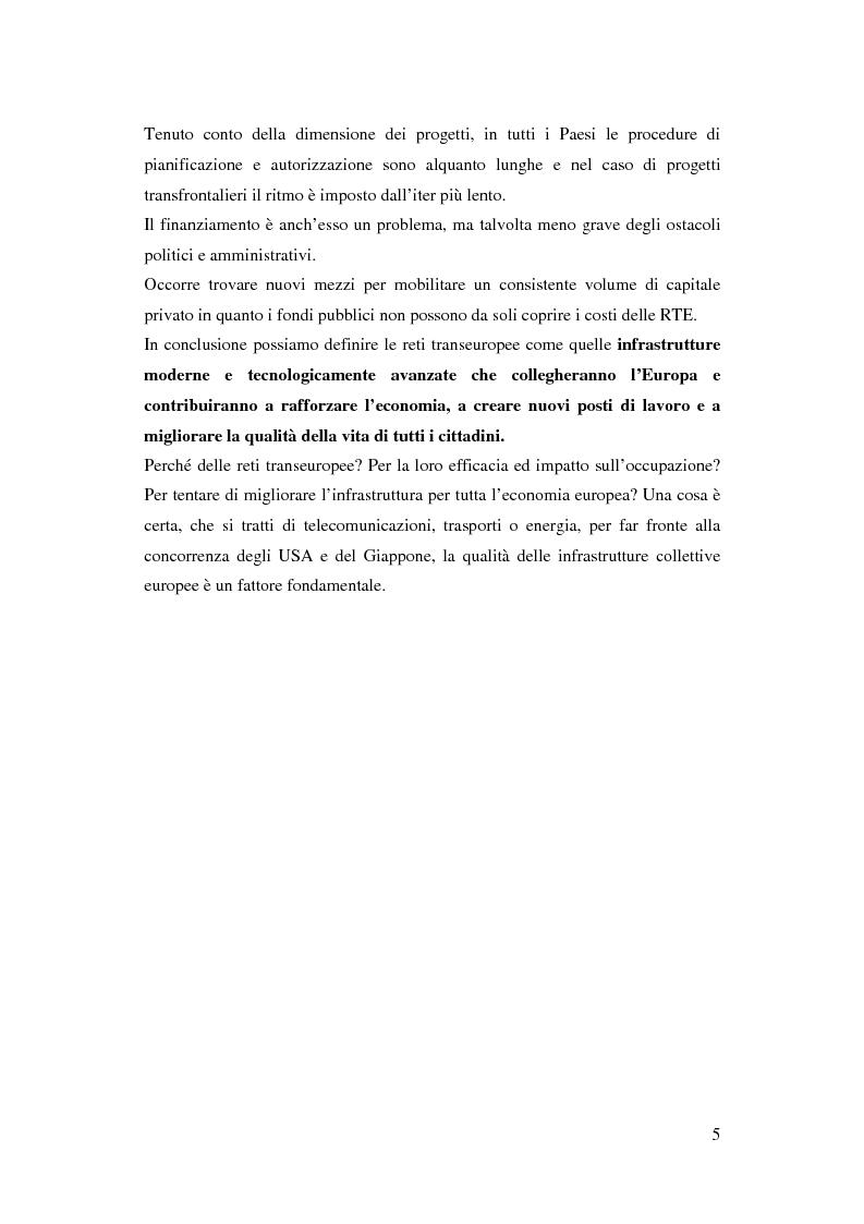 Anteprima della tesi: La funzione delle reti transeuropee nel quadro della costruzione europea, Pagina 5