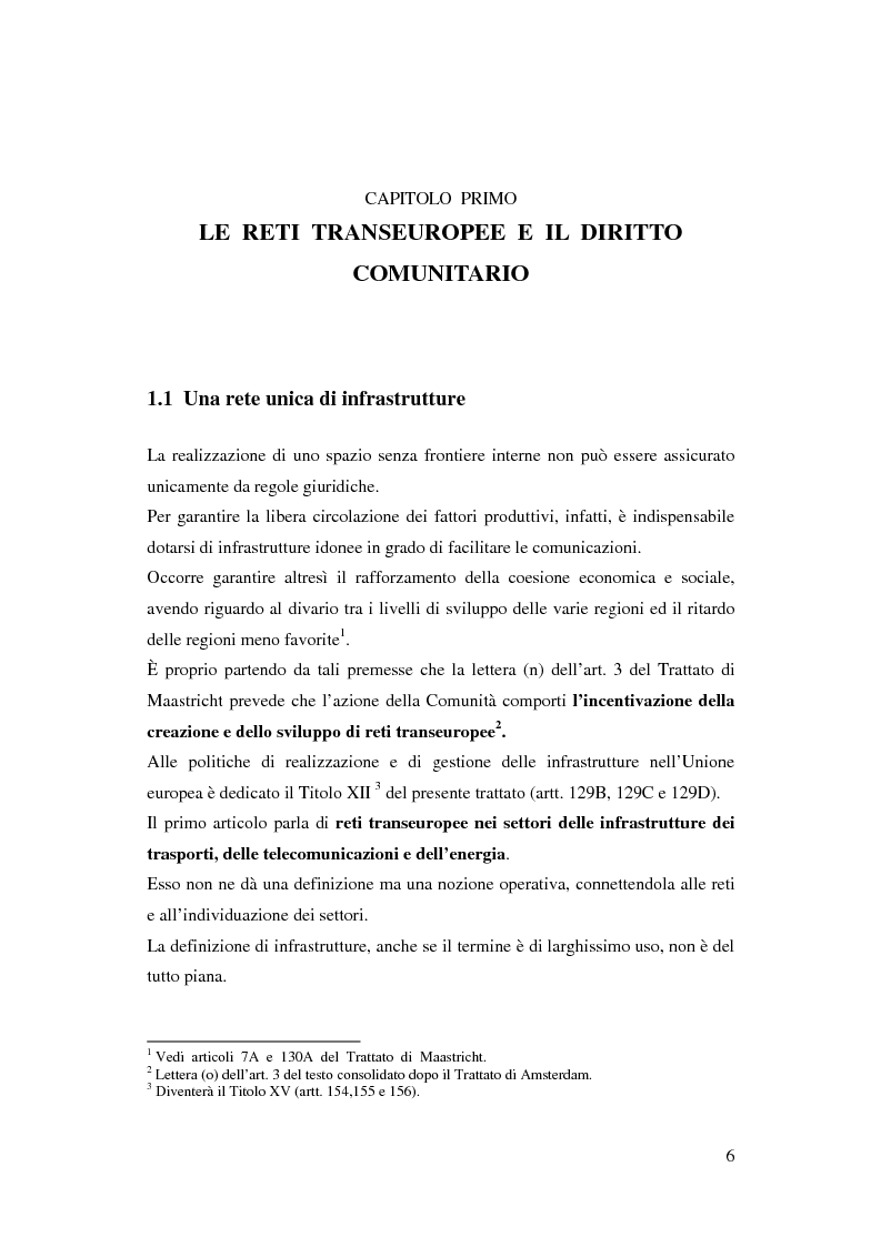 Anteprima della tesi: La funzione delle reti transeuropee nel quadro della costruzione europea, Pagina 6