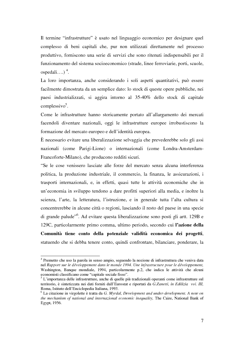 Anteprima della tesi: La funzione delle reti transeuropee nel quadro della costruzione europea, Pagina 7