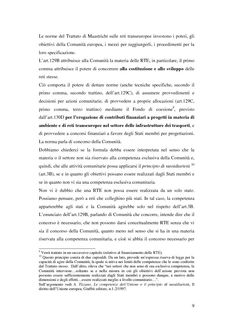 Anteprima della tesi: La funzione delle reti transeuropee nel quadro della costruzione europea, Pagina 9