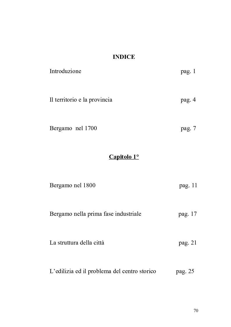 Indice della tesi: Bergamo: saggio di geografia urbana, Pagina 1