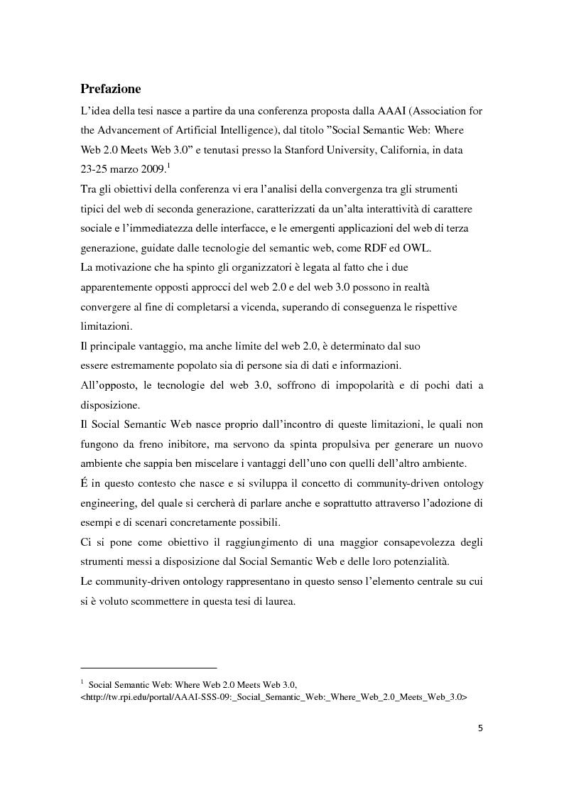 FolksOntology. Dal Social networking al Social Semantic Web - Tesi di Laurea