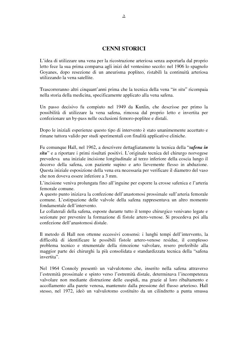 Anteprima della tesi: Il by-pass femoro distale con vena, Pagina 2