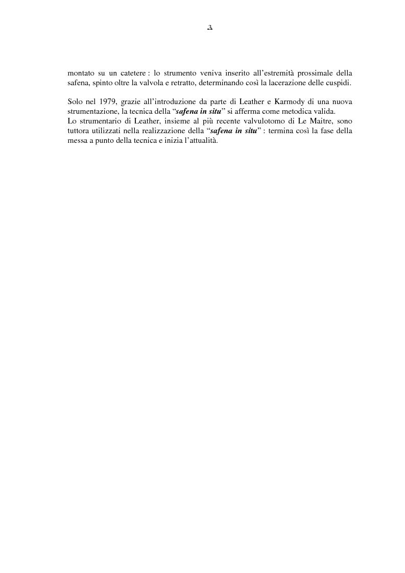 Anteprima della tesi: Il by-pass femoro distale con vena, Pagina 3