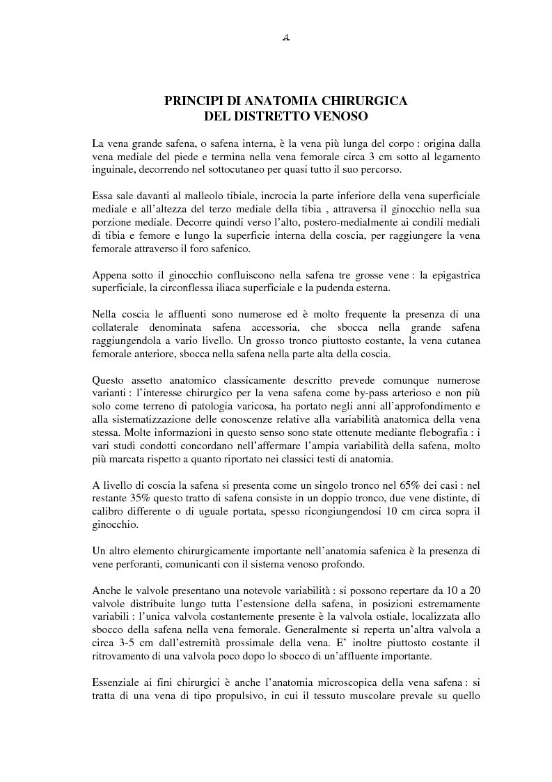 Anteprima della tesi: Il by-pass femoro distale con vena, Pagina 4