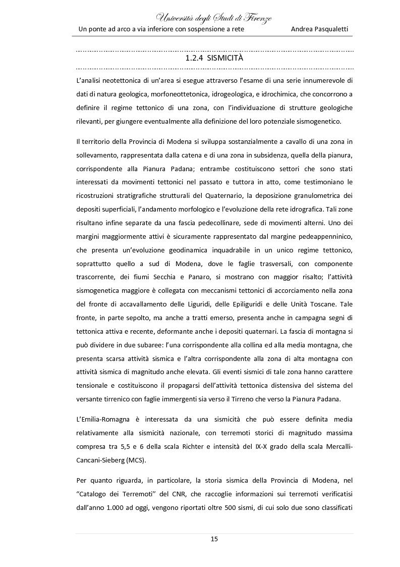 Estratto dalla tesi: Un ponte ad arco a via inferiore con sospensione a rete sulla SP01 a Bomporto (MO)