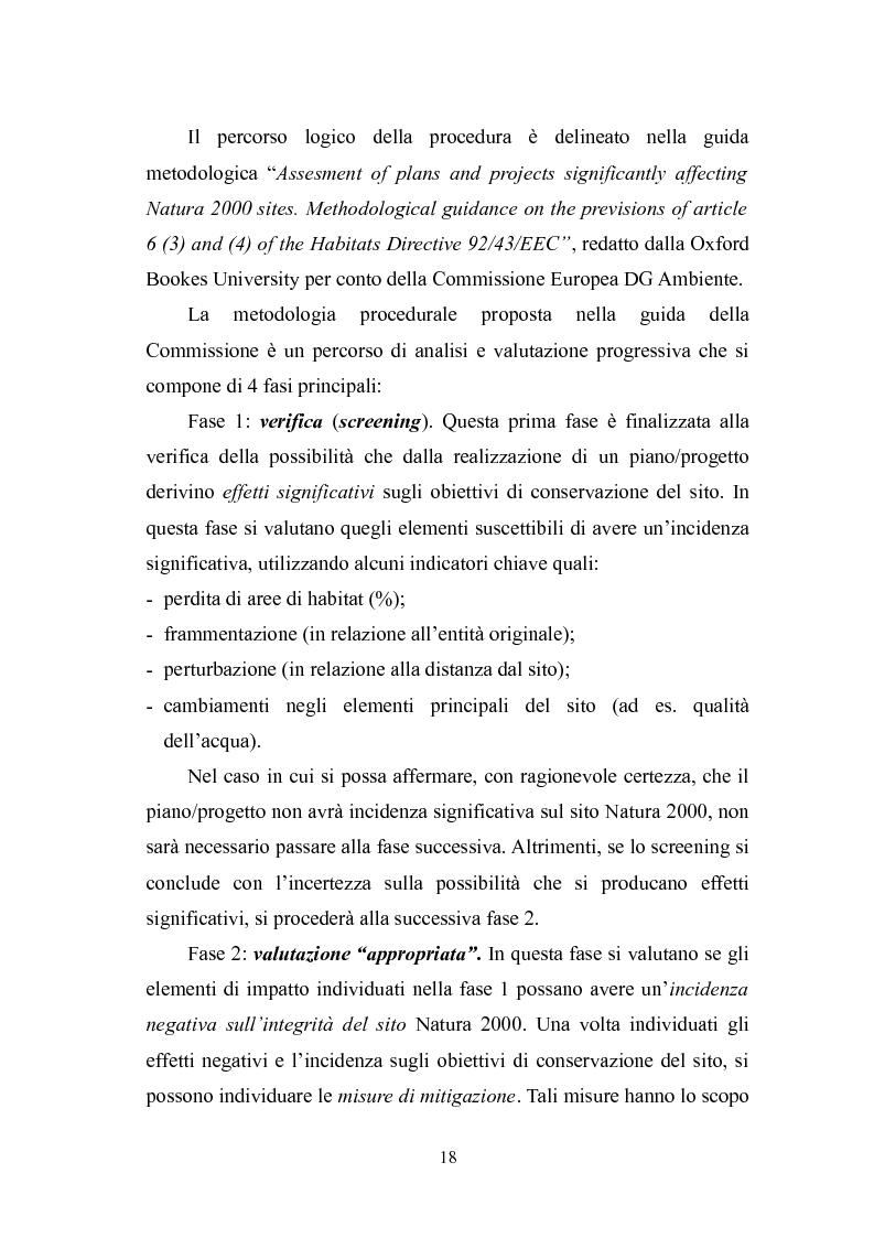 Estratto dalla tesi: Valutazione di incidenza relativa alla messa in produzione di una centrale idroelettrica sul fiume Aterno