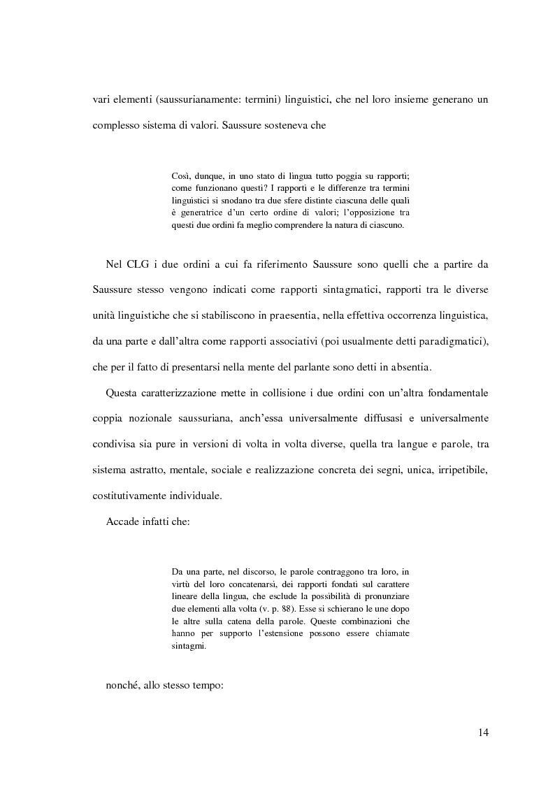 Estratto dalla tesi: Per il Lessico delle Collocazioni Italiano Rumeno