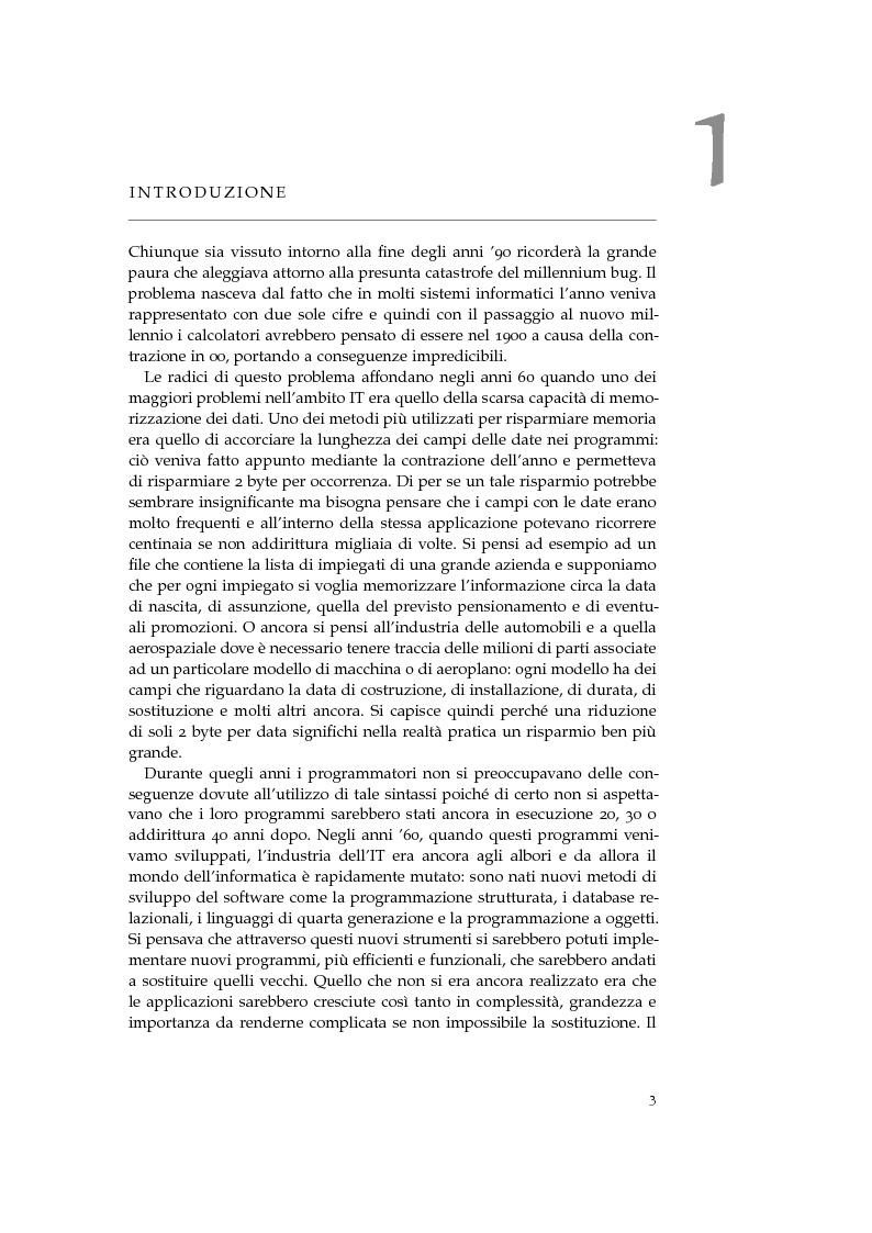 Estratto dalla tesi: Modernizzazione di Sistemi Legacy