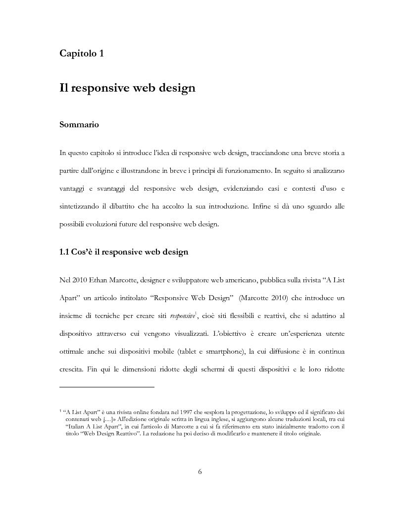 Estratto dalla tesi: Il Responsive Web Design per le organizzazioni non profit