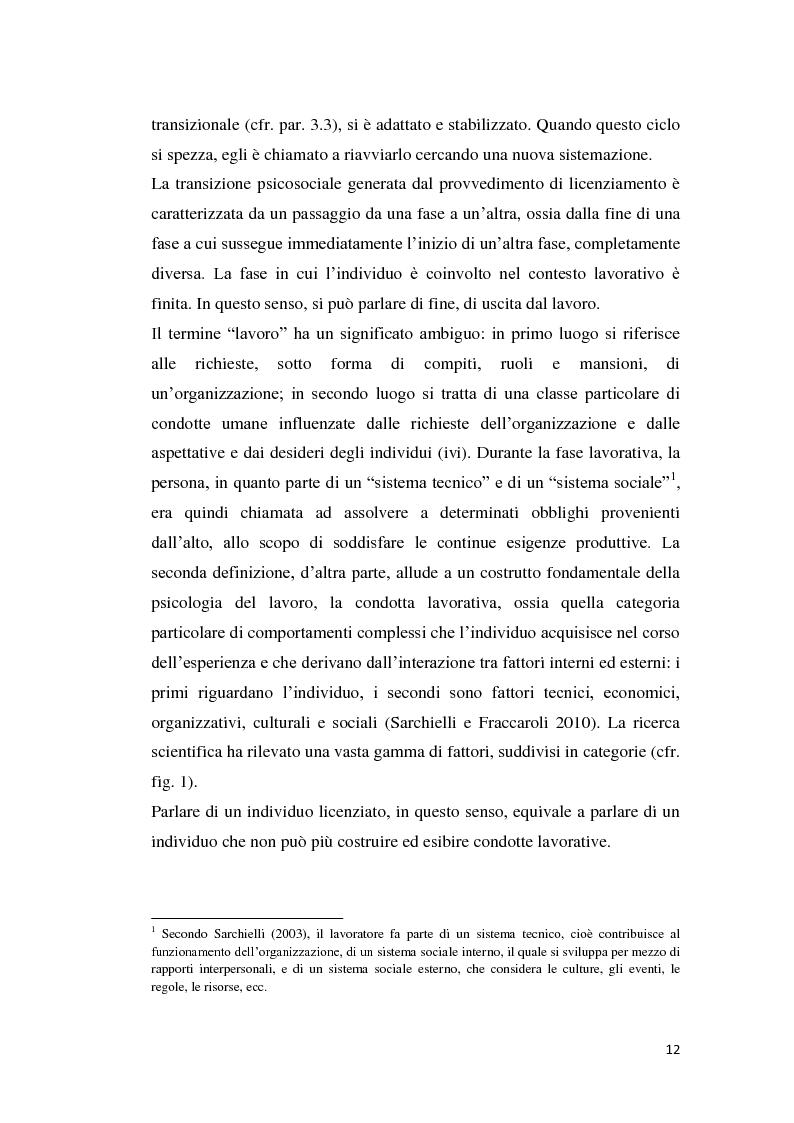 Estratto dalla tesi: Il licenziamento: dinamiche psicosociali e strategie di coping
