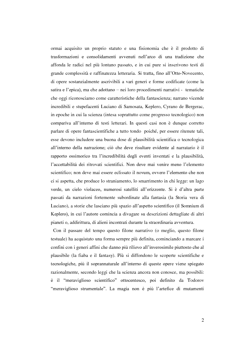 Anteprima della tesi: Dall'intelligenza artificiale al viaggio interstellare. Temi e forme della science-fiction, Pagina 3