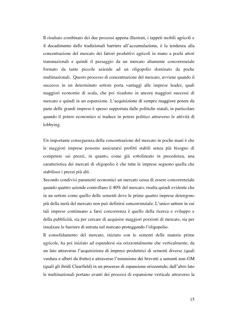 Estratto dalla tesi: Il mercato internazionale delle sementi e la brevettabilità delle risorse fitogenetiche quali elementi strategici per il controllo globale della produzione agricola e dell'alimentazione