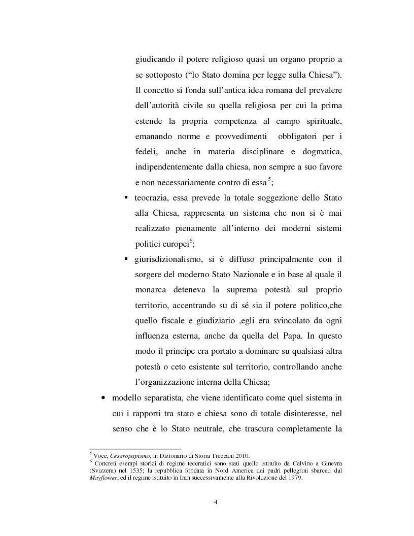 Estratto dalla tesi: I finanziamenti alle confessioni religiose in Italia ed in Europa