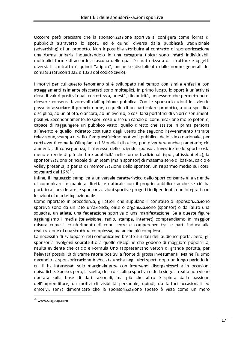 Estratto dalla tesi: Sponsorship: una strategia di comunicazione e management per l'Abruzzo