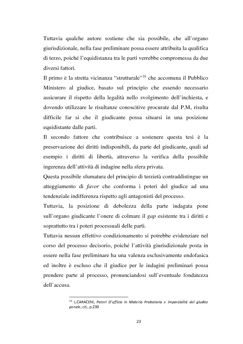 Estratto dalla tesi: L'imparzialità del giudice e i poteri d'ufficio in materia probatoria