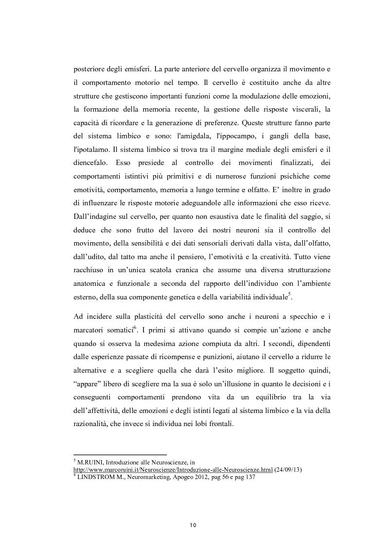 Estratto dalla tesi: Decisioni aziendali e Neuromarketing. Analisi delle emozioni e stimolazione polisensoriale del consumatore
