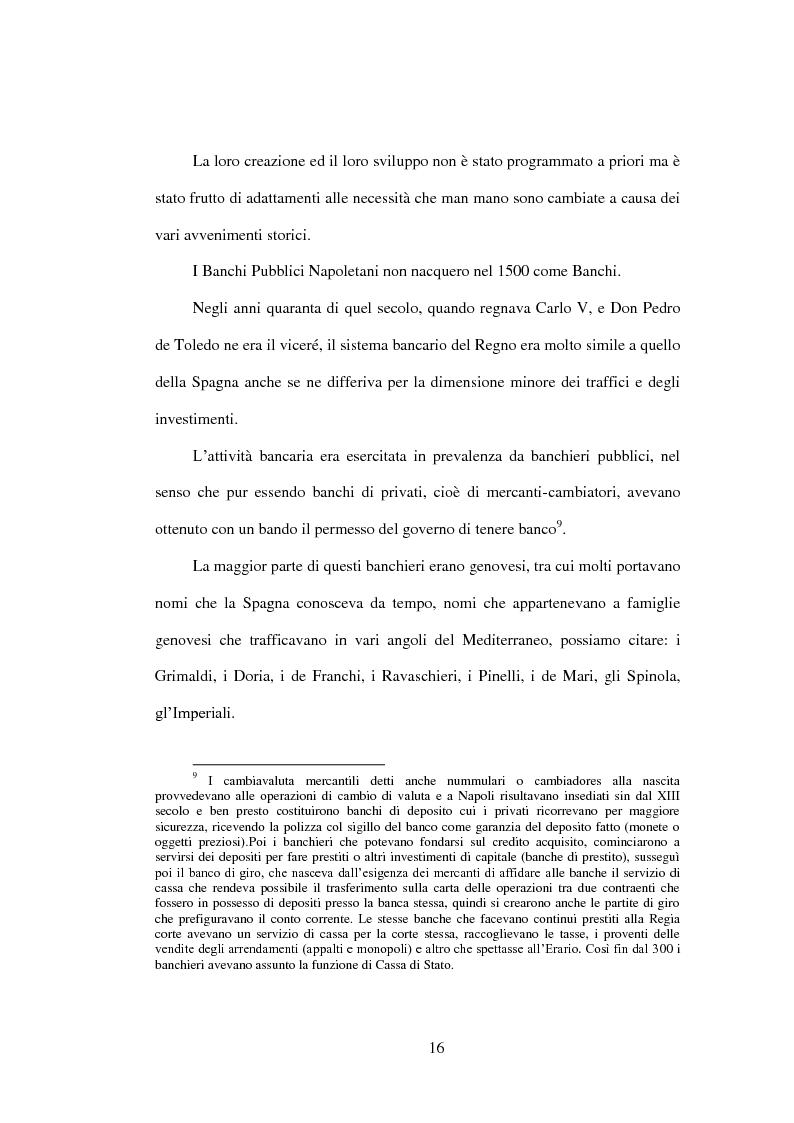 Estratto dalla tesi: Le origini, le attività e la contabilità dei Banchi Pubblici Napoletani