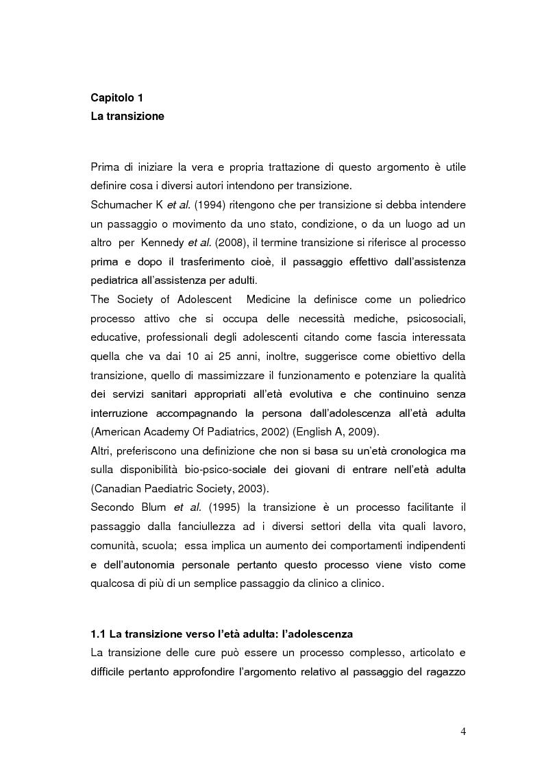 Anteprima della tesi: Il governo clinico assistenziale nella transizione del paziente pediatrico, Pagina 5