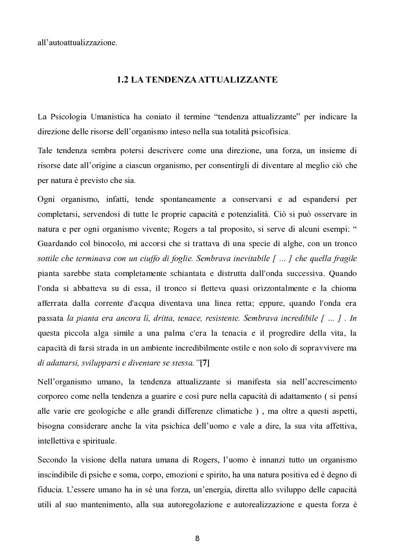 Estratto dalla tesi: La fiducia di Carl Rogers nella natura umana: ''ammirare una persona come si ammira un tramonto'' - Aspetti pedagogici e psicopedagogici