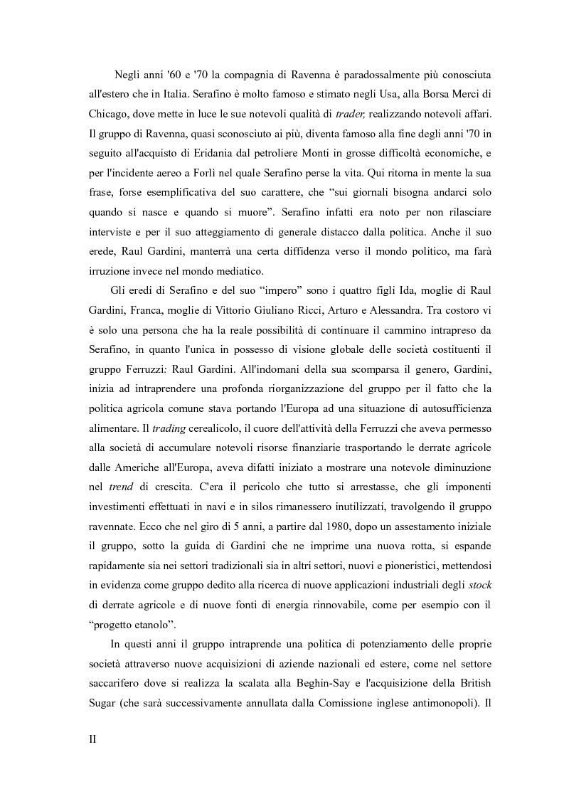 Anteprima della tesi: Il gruppo Ferruzzi e la figura di Raul Gardinii: la scalata alla Montedison, Pagina 3