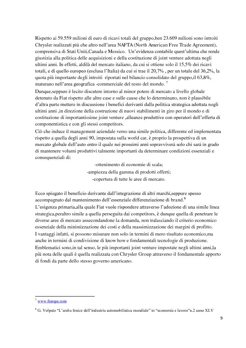 Estratto dalla tesi: Il caso FIAT. Presupposti economici e contenuti della vertenza giuridico-sindacale nel quadro delle relazioni industriali