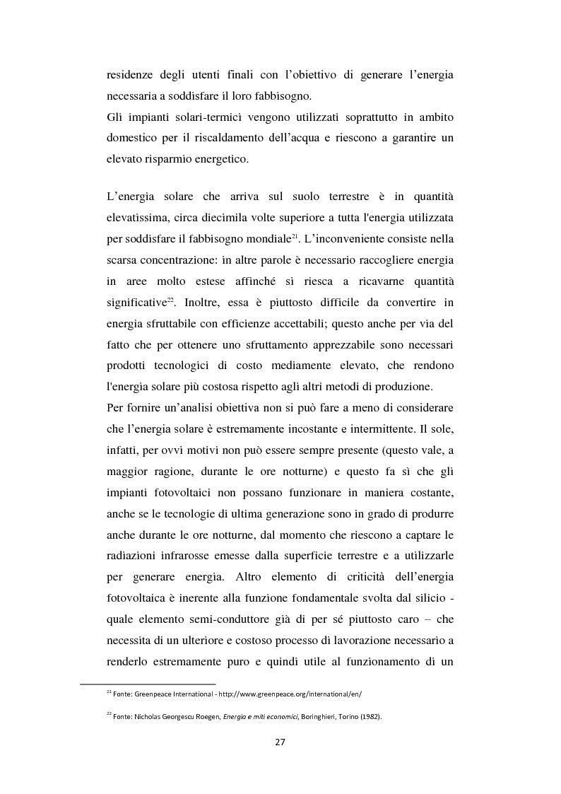 Estratto dalla tesi: Il mercato delle Energie Rinnovabili in Italia: elementi economici e finanziari a confronto con il modello tedesco