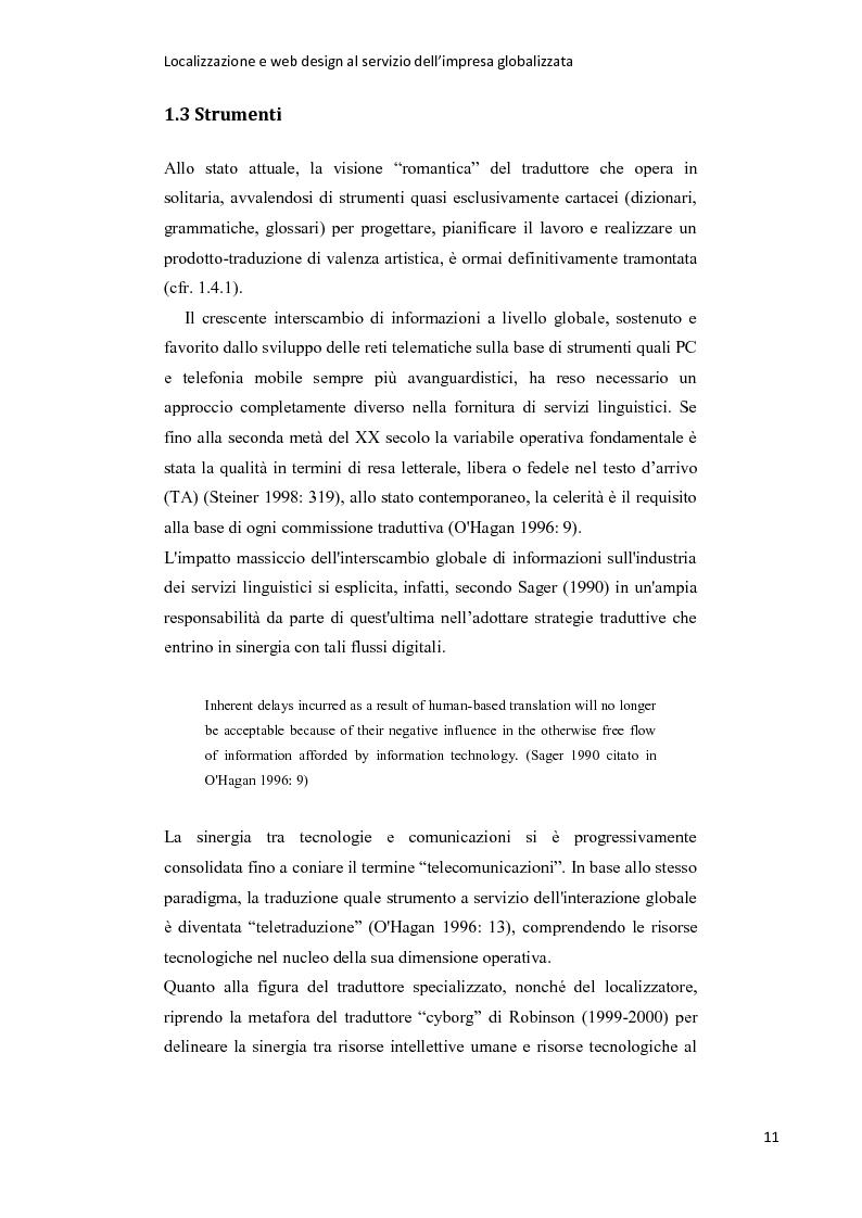 Estratto dalla tesi: Localizzazione e web design al servizio dell'impresa globalizzata