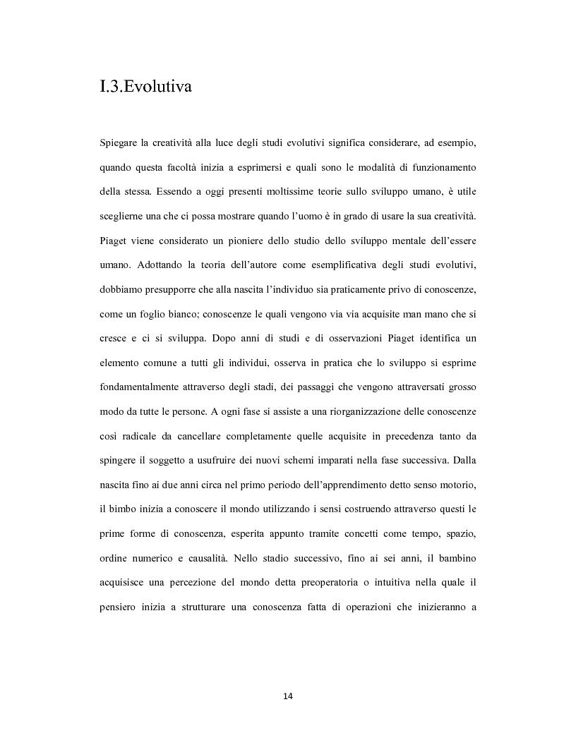 Estratto dalla tesi: La creatività come forma d'intelligenza. Le concezioni teoriche di Robert J. Sternberg e di Howard Gardner