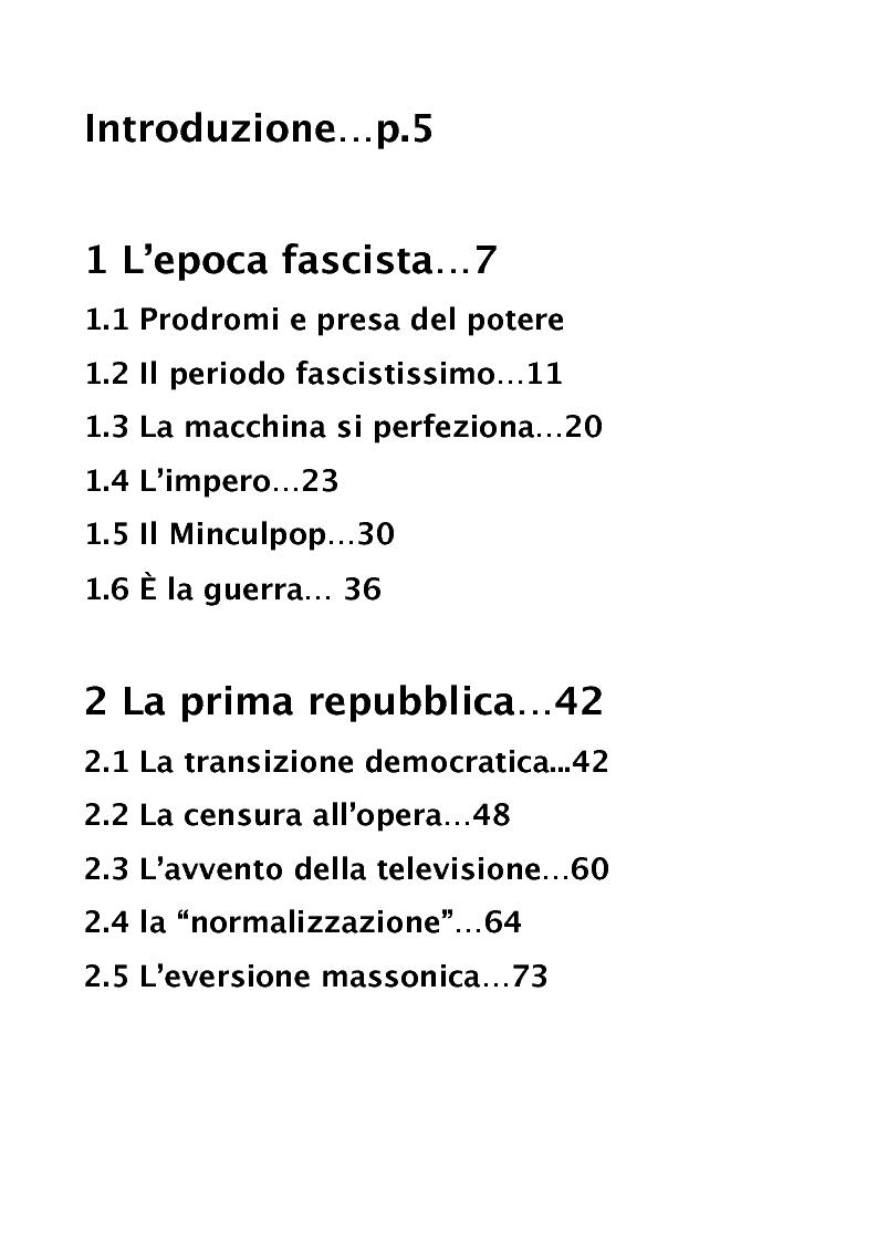 Indice della tesi: Libertà sulla carta. Per una visione d'insieme sul condizionamento dell'informazione  in Italia, Pagina 1